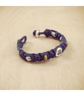Women's AUM Tigereye Celtic Knot on Slate Blue