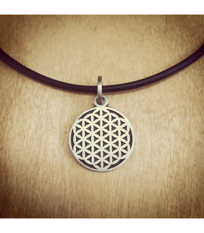 Flower of life pendantnecklace karmacords flower of life pendant mozeypictures Gallery