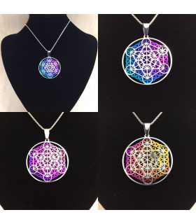 Metatron Flower Rainbow