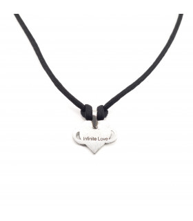 Infinite Love Pewter Necklace