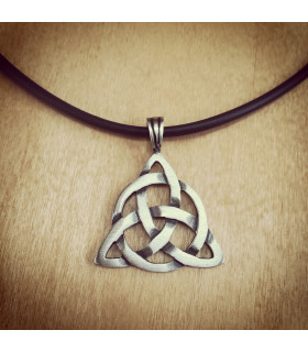 Triquetra-Trinity Large Pewter Necklace