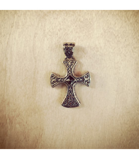 Solid Celtic Black CZ Stainless Steel Cross Pendant Pendant