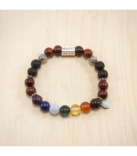 6 Words Chakra Rosewood - 8mm