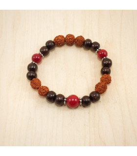 Rudraksha Red Coral- 8mm