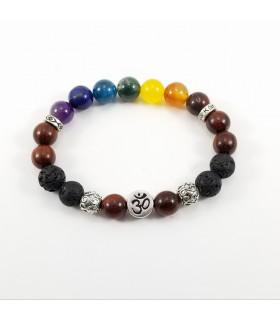 AUM/Buddha Chakra Bracelet - 10mm