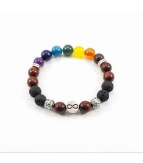 10mm Triquetra/Infinity Chakra Bracelet