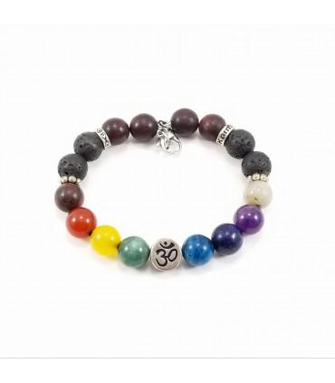 AUM/Buddha Chakra SSHD Bracelet - 10mm