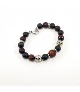 Men's/Unisex Red Tigereye Shungite SSHD Bracelet