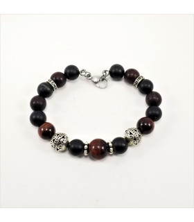 10mm Red Tigereye Shungite SSHD Bracelet