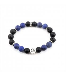 Triquetra/Infinity Lapis Onyx Bracelet - 10mm