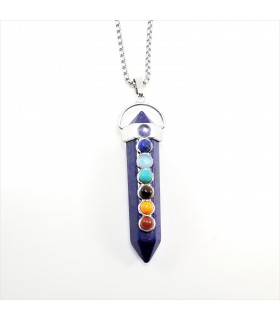 Lapis Lazuli Prism Point Chakra Gemstone Necklace