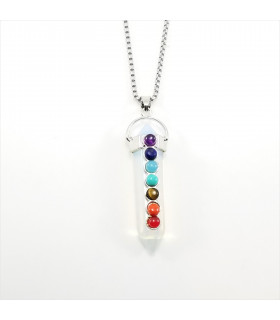 Opalite Prism Point Chakra Gemstone Necklace
