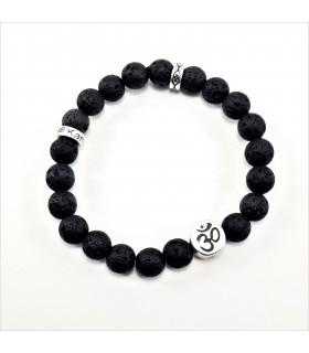 AUM/Buddha Lava Bracelet - 8mm