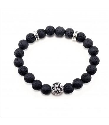 Lotus Lava Rock Bracelet - 8mm