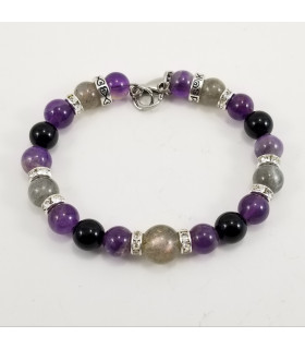 Peace & Protection Bling SSHD bracelet - 8mm