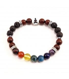 AUM/Buddha Chakra Bracelet - 8mm