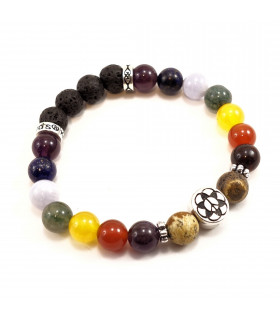 Seed of Life/Peace Chakra Bracelet - 8mm