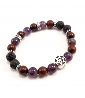 Seed of Life Peace Bracelet - 8mm