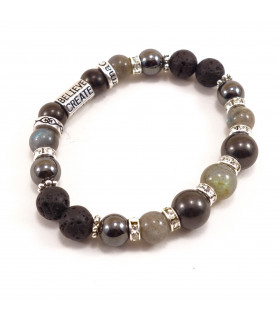 Protection & Grounding bracelet, bling edition - 8mm